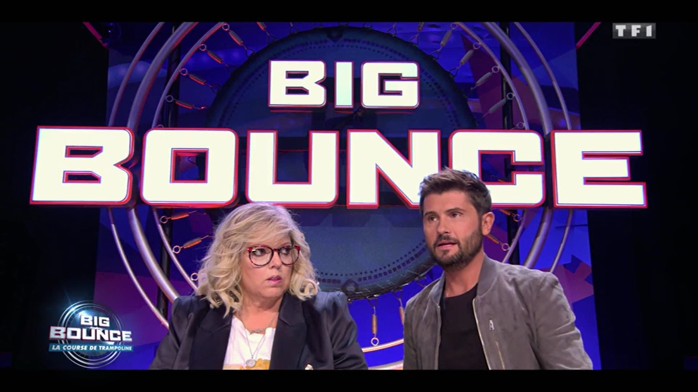 Big bounce la course de trampoline Laurence Boccolini Christophe Beaugrand TF1 jeu 11 janvier audiences tv